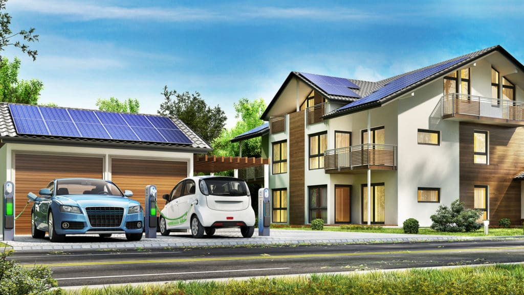 Solar-Panels-On-The-Roof-Of-The-Houses