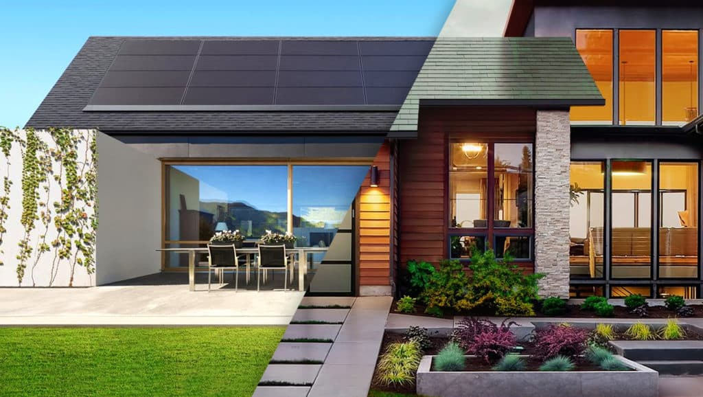 Houses-With-Solar-Panels-And-Shingles-On-The-Roof