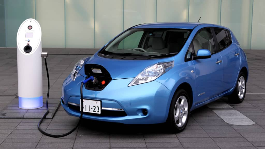 Blue-Car-And-EV-Charger