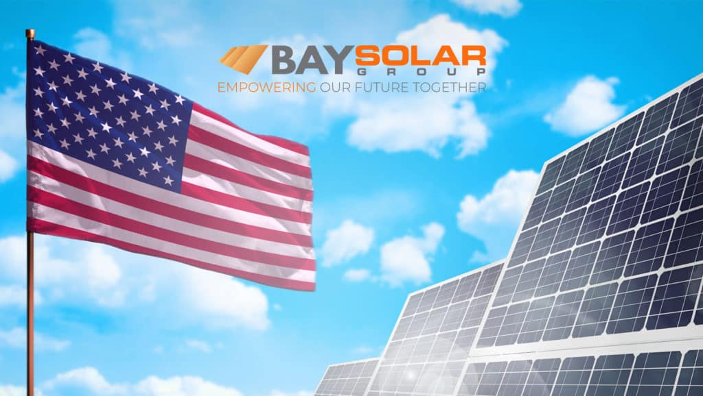 Solar-Panel-And-The-US-Flag