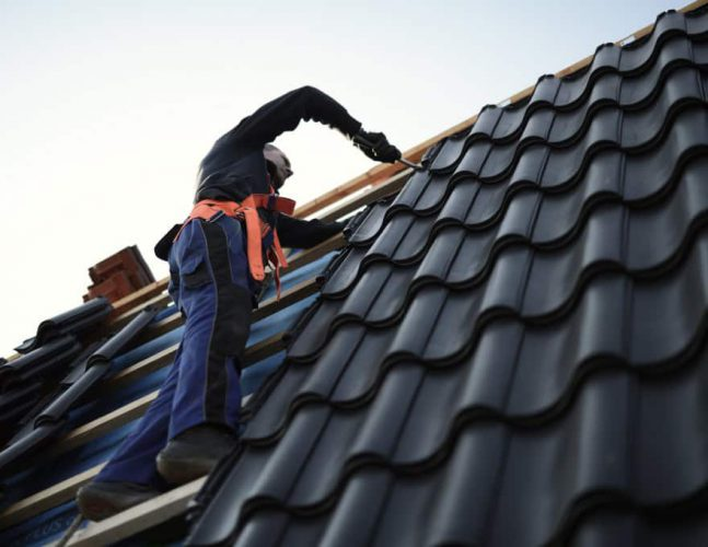 Black Roof Tile